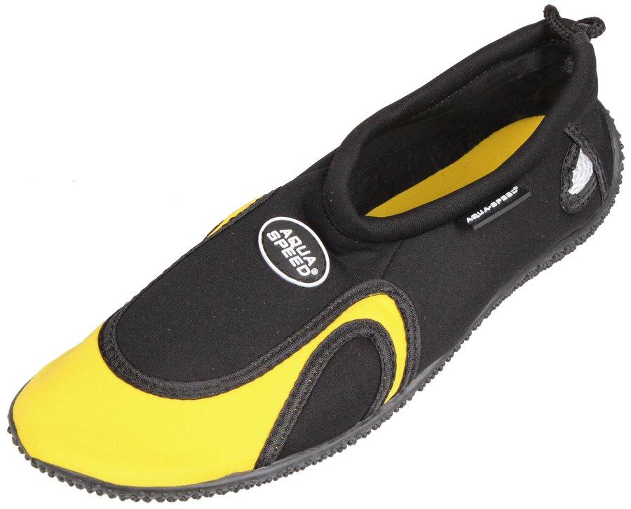 Černo-žluté boty do vody Jadran 18, Aqua-Speed - velikost 35 EU