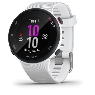 Bílé chytré hodinky Forerunner 45S, Garmin