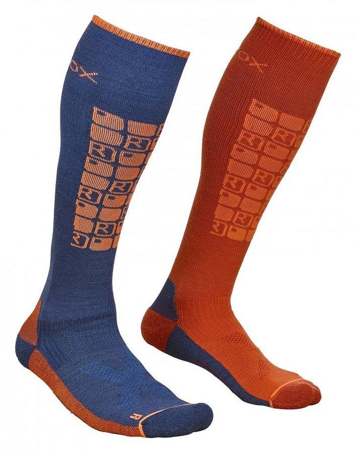 Modré pánské lyžařské ponožky Ortovox