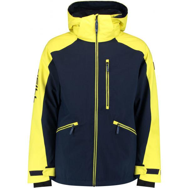 Černo-žlutá pánská snowboardová bunda O'Neill