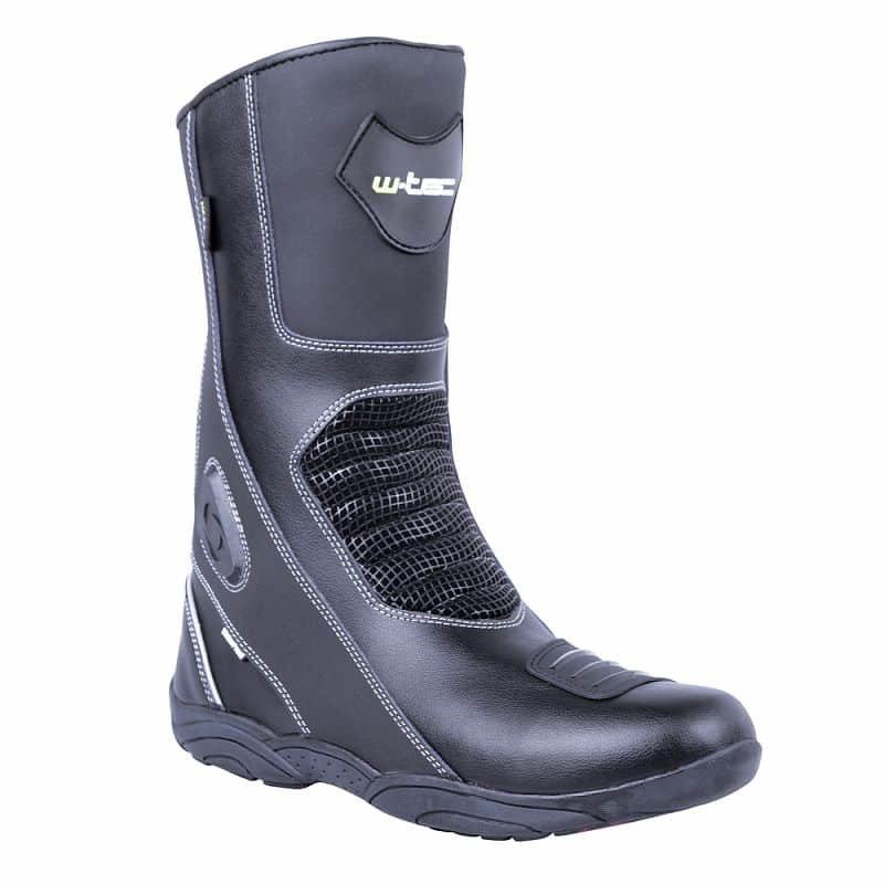Černé vysoké motorkářské boty Wurben NF-6050, W-TEC - velikost 41 EU