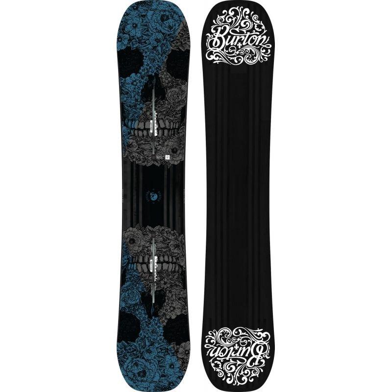 Černý snowboard bez vázání Burton - délka 157 cm