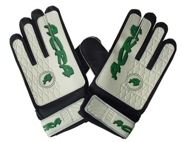 Bílo-zelené brankářské fotbalové rukavice Acra - velikost 8