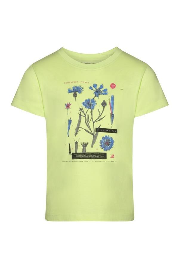 Zelené turistické tričko s krátkým rukávem Alpine Pro - velikost 164-170