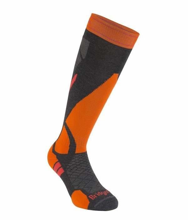 Oranžovo-šedé pánské lyžařské ponožky Bridgedale