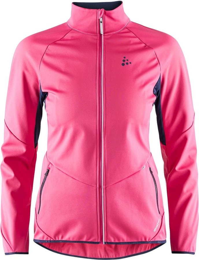 Růžová dámská bunda na běžky Craft - velikost S