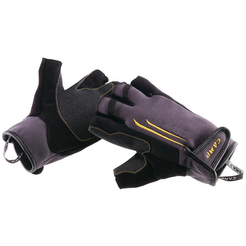 Černé zimní dámské ferratové rukavice Camp - velikost L