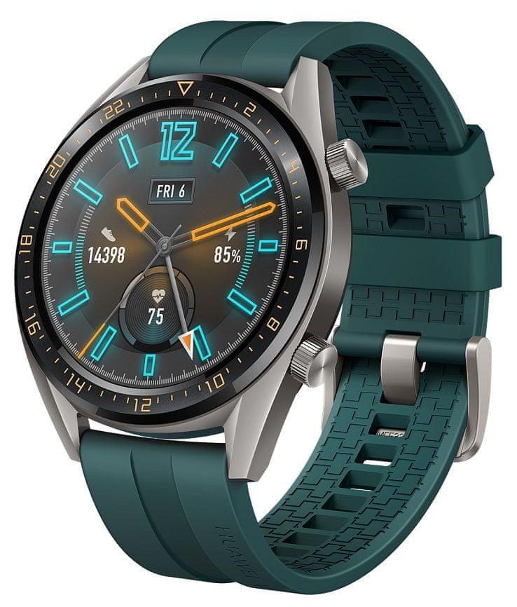 Zelené analogové chytré hodinky Watch GT Active, Huawei