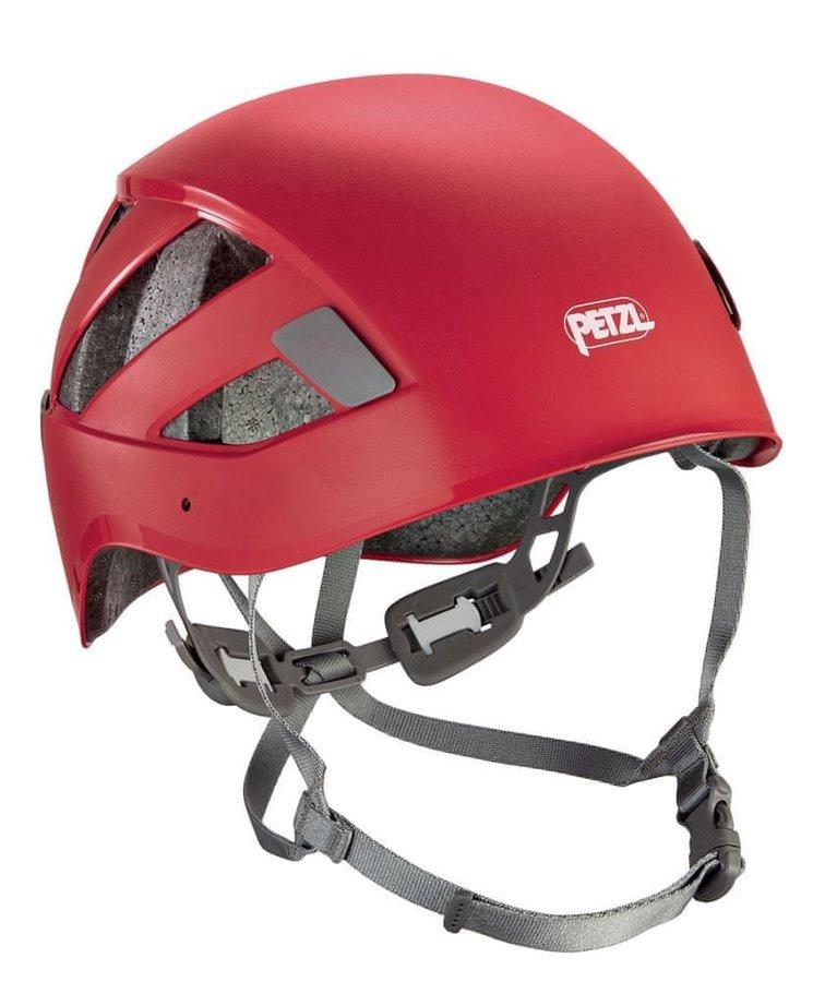 Červená horolezecká helma Petzl