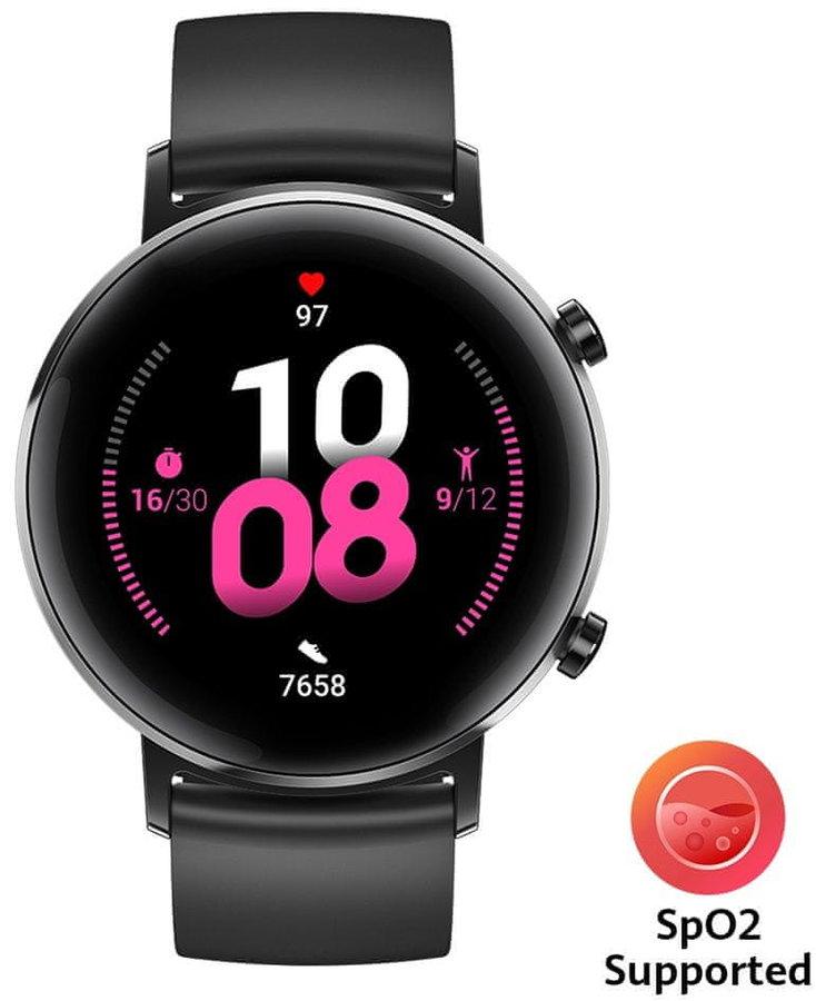 Černé digitální chytré hodinky Watch GT 2, Huawei