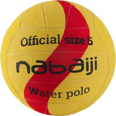 Žlutý míč na vodní pólo pro muže Nabaiji - velikost 5