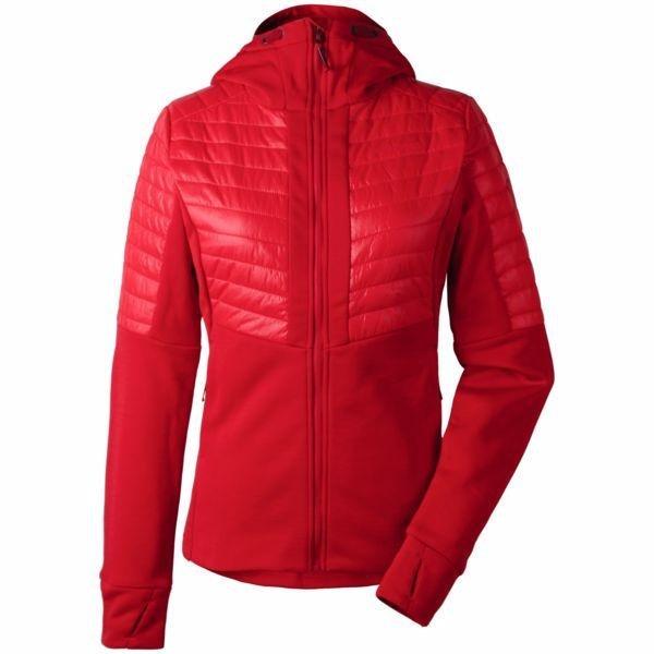 Červená zimní dámská bunda s kapucí Didriksons1913 - velikost 36