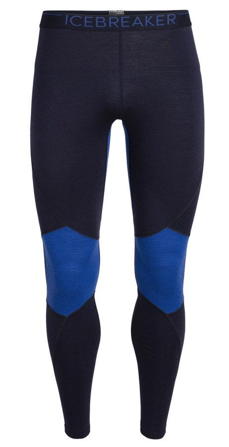 Modré pánské funkční kalhoty Icebreaker