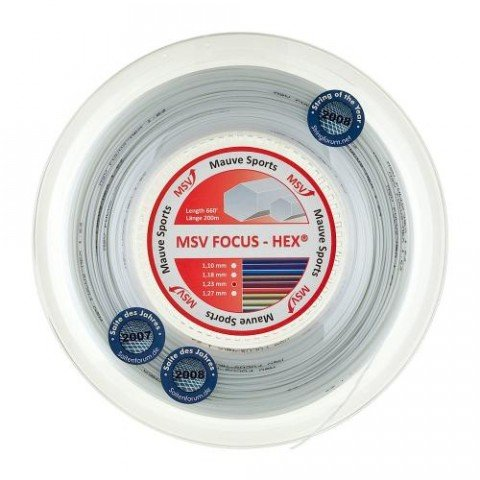 Tenisový výplet - MSV Focus HEX 200m 1,23 červená