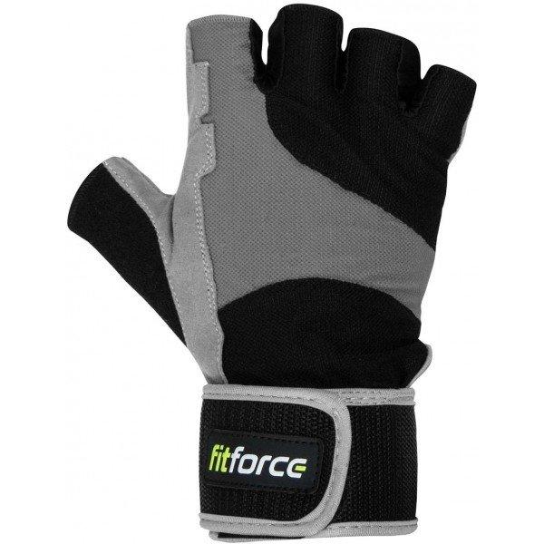 Černo-šedé fitness rukavice Fitforce