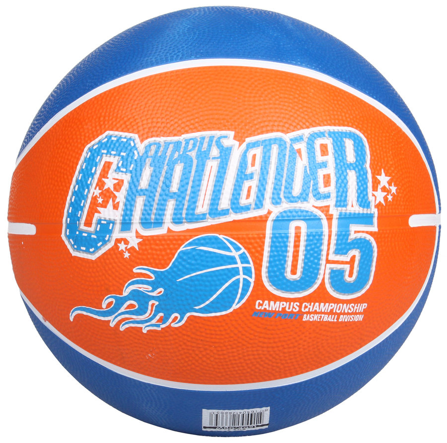 Oranžový basketbalový míč Print, New Port - velikost 7