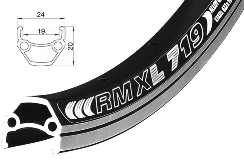 "Černý ráfek na kolo Remerx - velikost 27,5"""