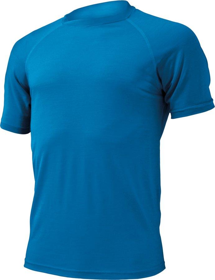 Modré pánské tričko s krátkým rukávem Lasting - velikost S