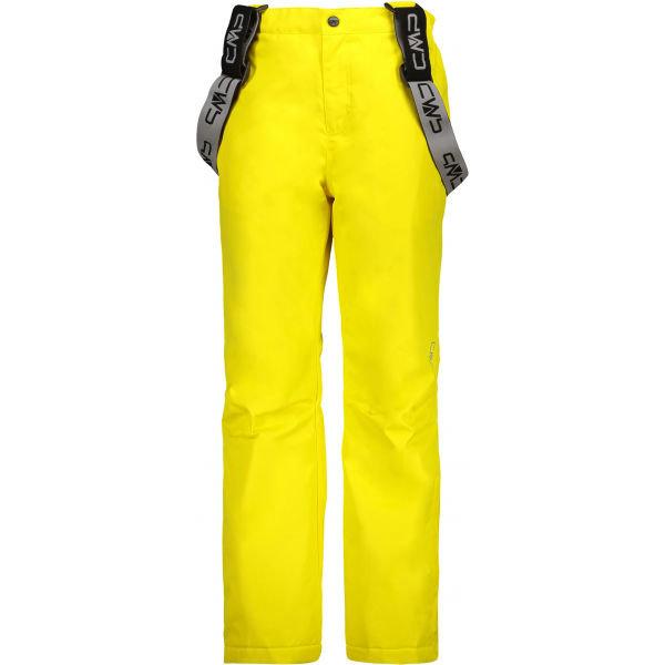 Žluté dívčí lyžařské kalhoty CMP - velikost 128