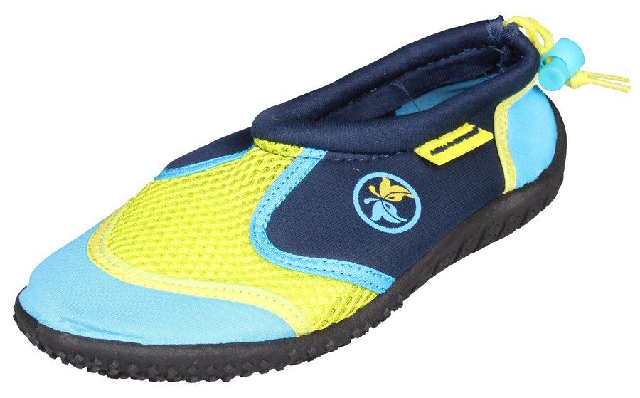 Modro-žluté dětské nízké chlapecké nebo dívčí neoprenové boty Jadran, Aqua-Speed - velikost 22 EU
