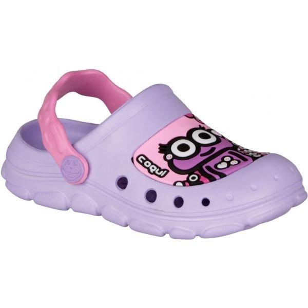 Fialové dívčí sandály Coqui - velikost 24-25 EU