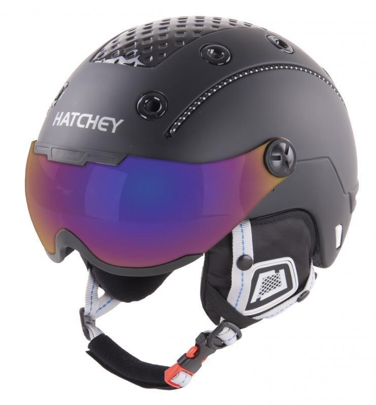 Černá lyžařská helma Hatchey - velikost 58-60 cm