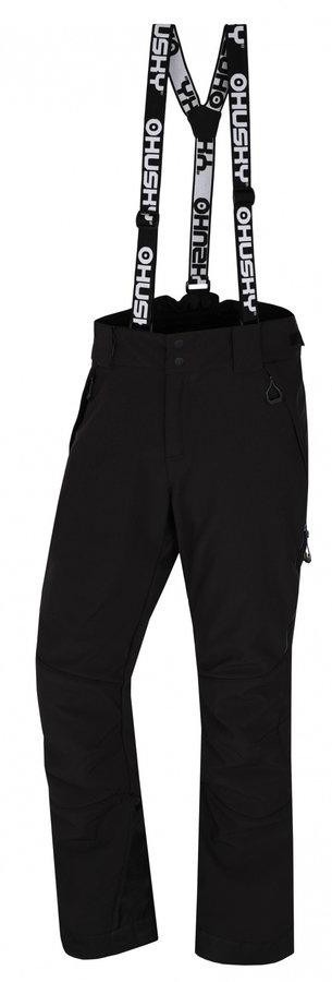 Černé pánské lyžařské kalhoty Husky
