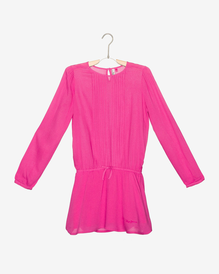 Růžové dívčí šaty Pepe Jeans