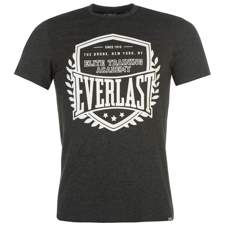 Černé pánské tričko s krátkým rukávem Everlast