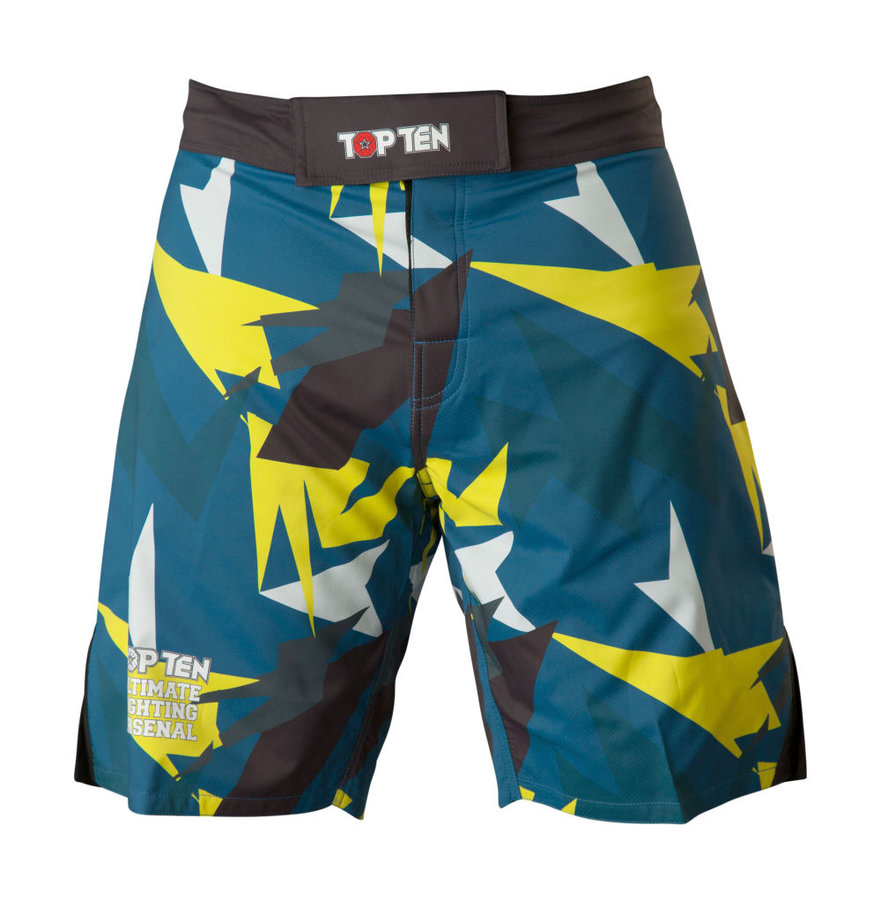 Modro-žluté MMA kraťasy Top Ten