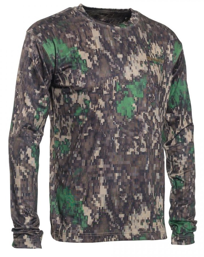 Maskáčové pánské tričko s dlouhým rukávem Deerhunter - velikost 3XL