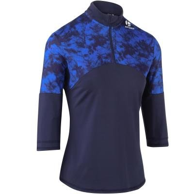 Modré dámské tenisové tričko Artengo - velikost M