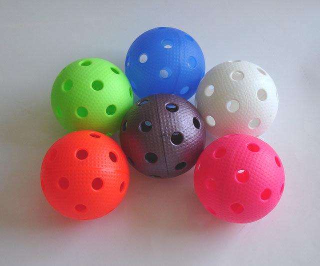 Oranžový florbalový míček Precision Pro League, Acra