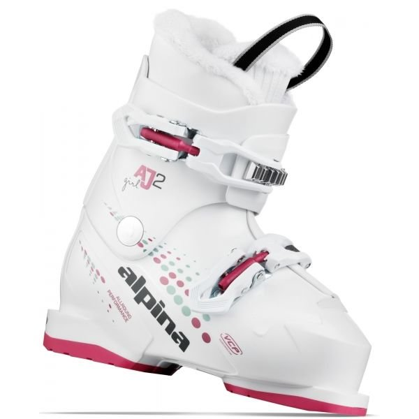 Bílé dívčí lyžařské boty Alpina