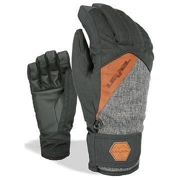 Černo-šedé pánské lyžařské rukavice Level