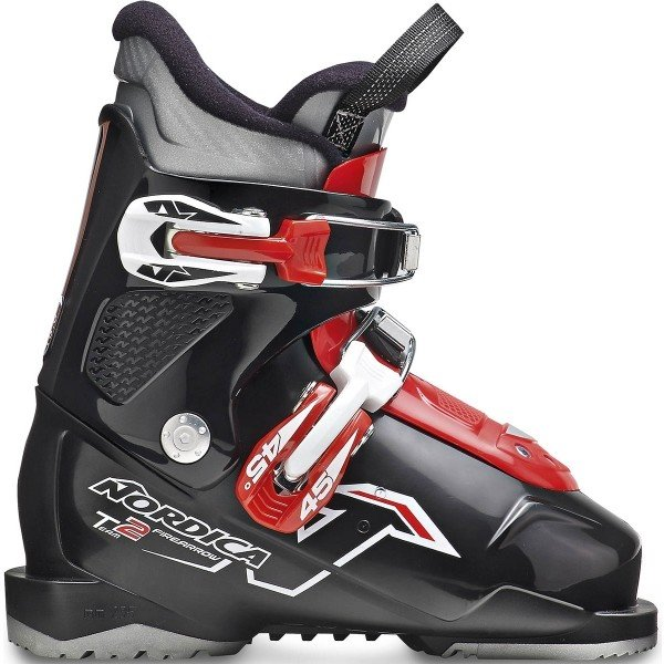Černo-červené dětské lyžařské boty Nordica