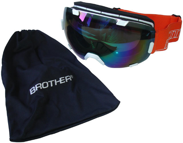 Bílo-oranžové lyžařské brýle Brother