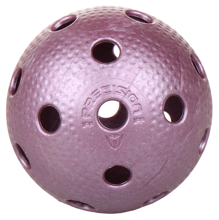 Fialový florbalový míček Precision Pro League, PRECISION