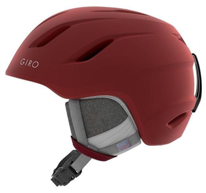 Červená dámská lyžařská helma Giro