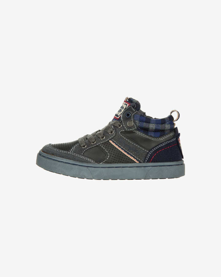 Šedé dětské chlapecké kotníkové boty Wrangler - velikost 33 EU