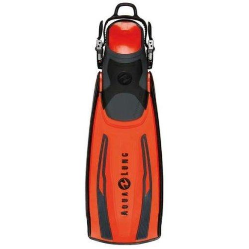 Oranžové dlouhé potápěčské ploutve s pásky STRATOS ADJ, TECHNISUB