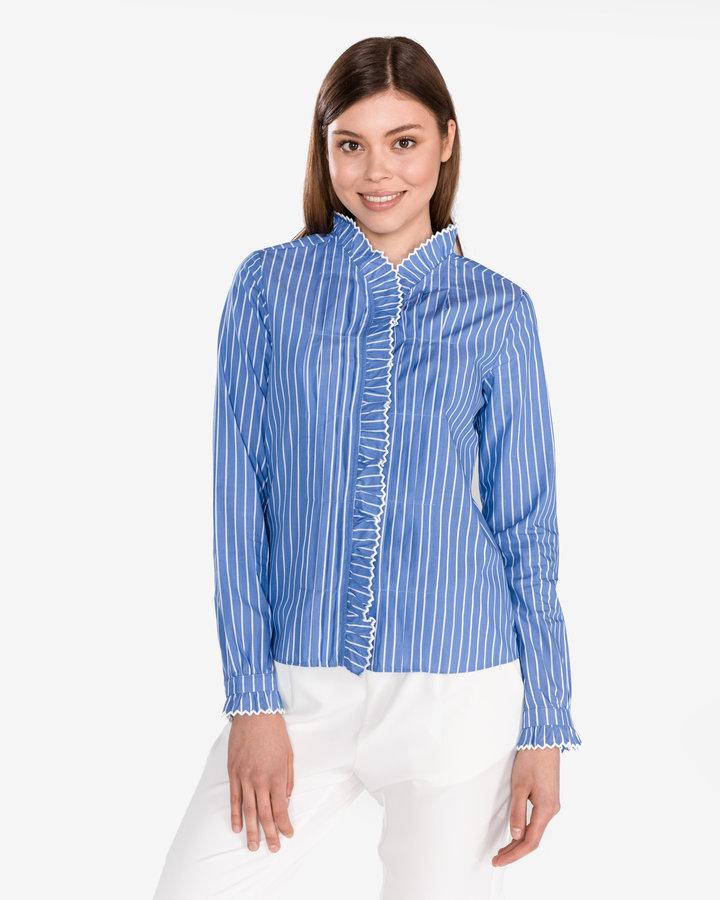 Modrá dámská košile s dlouhým rukávem Scotch & Soda - velikost S