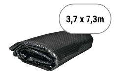 Černá solární plachta na bazén - délka 730 cm a šířka 370 cm
