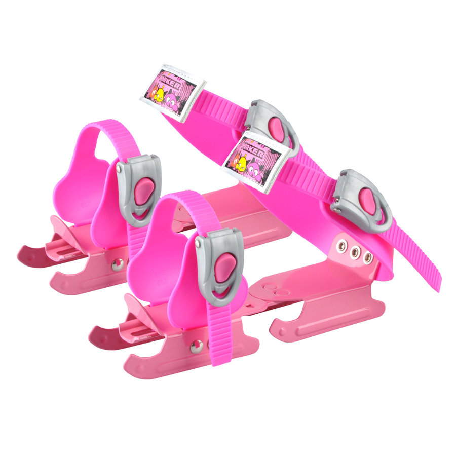 Lední brusle - Dětské brusle kačenky WORKER Duckss Pink