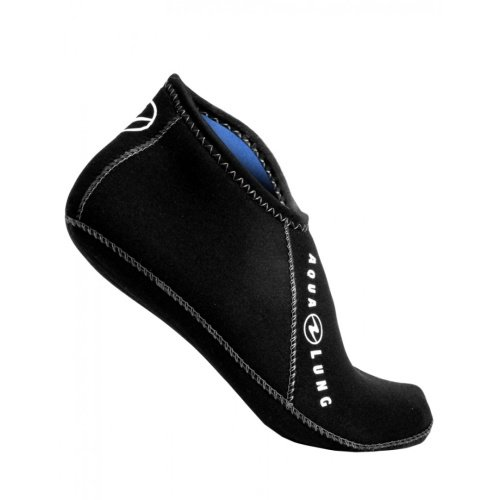 Černé unisex neoprenové ponožky Ergo Low, Aqualung - tloušťka 3 mm