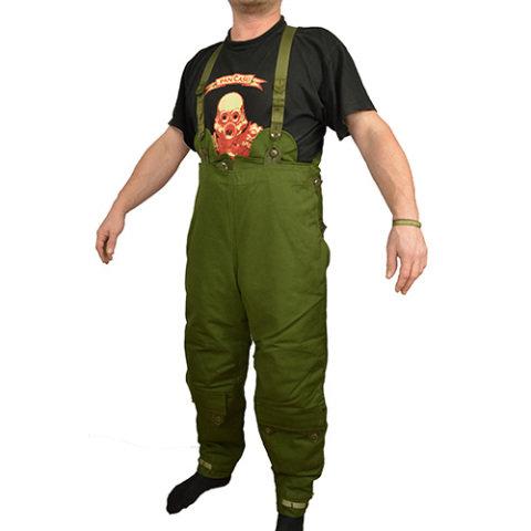 Kalhoty - Kalhoty ŠVÉDSKÉ motorkářské zateplené ZELENÉ