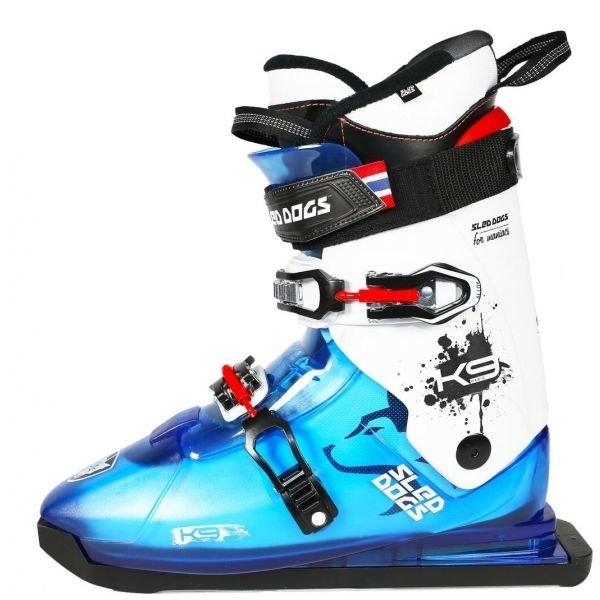 Bílo-modré pánské lyžařské boty Sled Dogs
