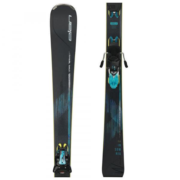 Černo-modré dámské lyže s vázáním Elan