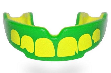 Zeleno-žlutý chránič na zuby na hokej SAFEJAWZ