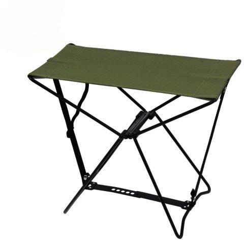 Kempingová židle - Stolička skládací ARMY ZELENÁ